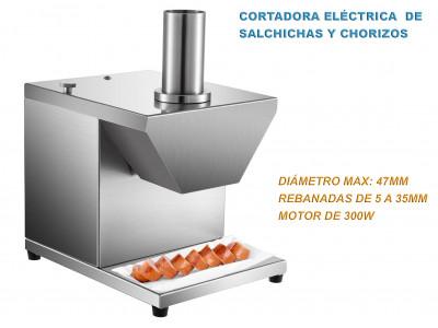 CES-47 CORTADORA REBANADORA ELÉCTRICA COMERCIAL DE SALCHICHAS / CHORIZOS DE 300W