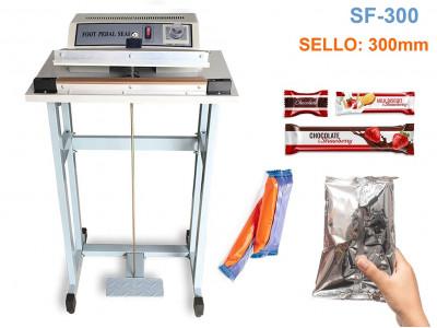 SF-300 SELLADORA DE IMPULSO DE PIE DE 300MM/2.5MM PARA USO LIVIANO