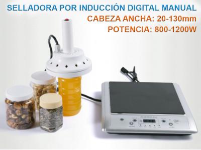 SIM-130D Selladora Por Inducción Magnética Digital Manual / Sellos: 20-130mm / 800-1200W