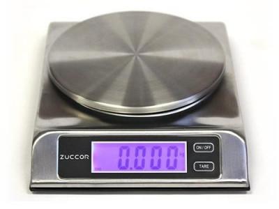 ZUCCOR Capri Báscula Digital de Acero Inoxidable para Alimentos de 13Lb o 6Kg / 1gr